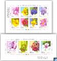 2016 Sri Lanka Miniature Sheets - Flowers, Definitive