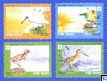 Vietnam Stamps - Birds in Xuan Thuy National Park